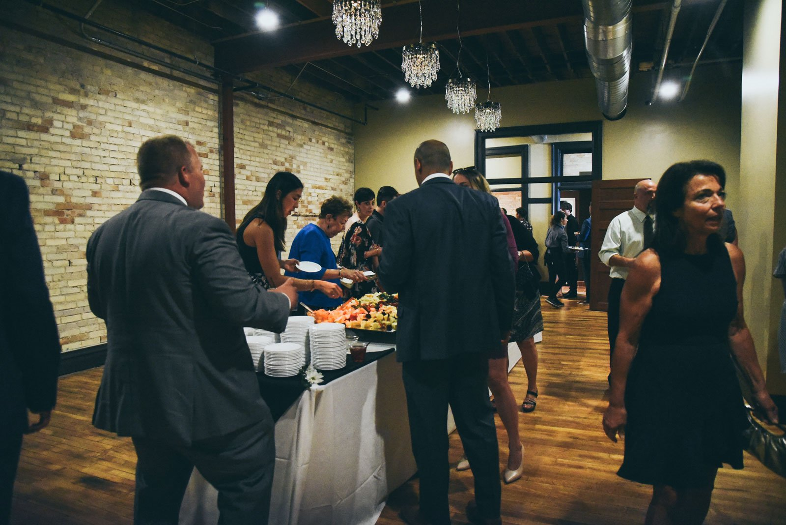 food-line-at-a-wedding-reception-in-the-Harric-Building